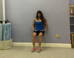 This e-cise helps reduce rotation in the pelvis for equal work of the quads. Looks deceptively simple.